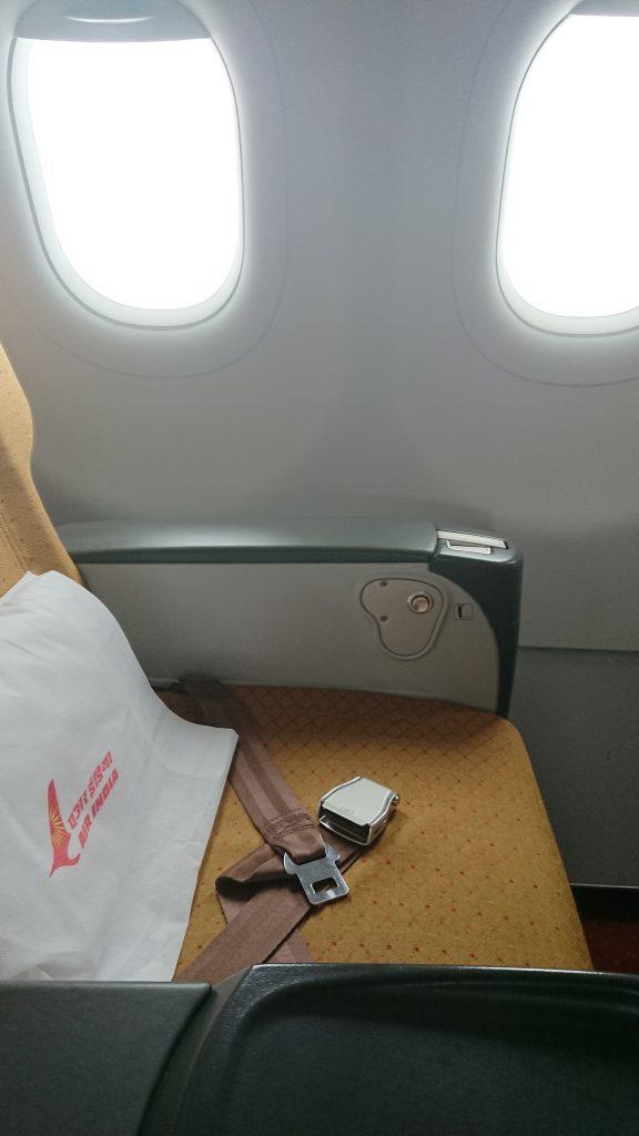デリーへの機内食