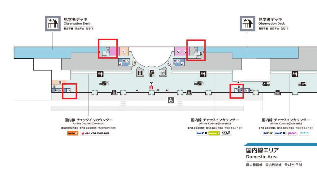 那覇空港喫煙所MAP3F